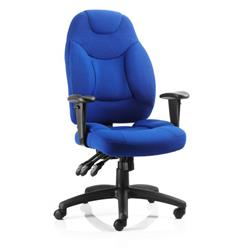 Galaxy Task Operator Chair Blue Fabric With Arms Ref OP000066