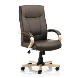Finsbury Executive Chair Brown Bonded Leather With Arms Ref EX000026