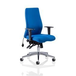 Onyx Ergo Posture Chair Blue Fabric Without Headrest With Arms Ref OP000097