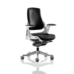 Zure Executive Chair Black Bonded Leather With Arms Ref EX000110