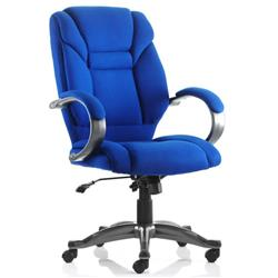 Galloway Executive Chair Blue Fabric With Arms Ref EX000031