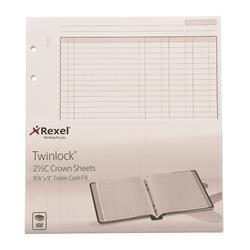 Twinlock 2.5C Crown Treble Cash Sheets Ref 75839 - Pack 100