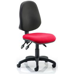 Eclipse III Task Operator Chair Cherry Colour Seat Without Arms Ref KCUP0265