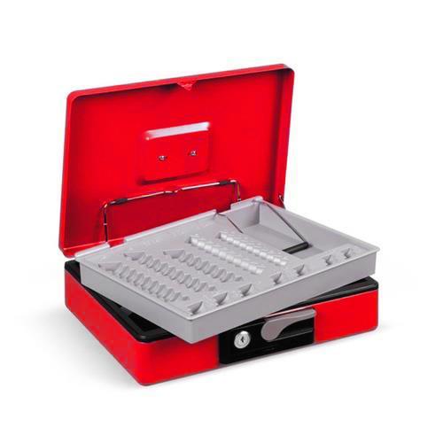 Foto Cassetta portavalori Deluxe - 300x230x80 mm - rosso - 3415RO