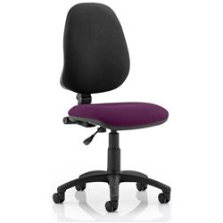 Eclipse I Task Operator Chair Purple Colour Seat Without Arms Ref KCUP0216