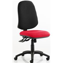 Eclipse XL Task Operator Chair Cherry Colour Seat With Arms Ref KCUP0249