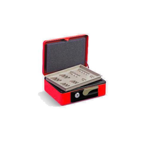 Foto Cassetta portavalori Deluxe - 197x154x80 mm - rosso - 3413RO