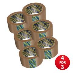 Sellotape Case Sealing Tape Vinyl 50mm x 66m - [Pack 6] - 4 for 3