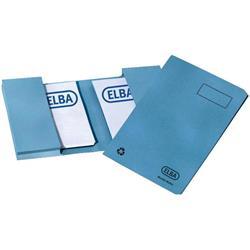 Elba Twin Pocket Wallet Foolscap Blue Ref 100090260 - Pack 25
