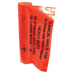 Waste Bags Clinical Heavy Duty Capacity 12kg Orange [Pack 50]