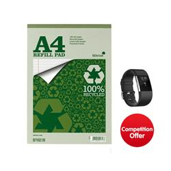 Silvine Everyday Refill Pad Recycled Topbound Ruled Margin 160pp 70gsm A4 [Pack 6] - Chance to Win a FREE Fitbit