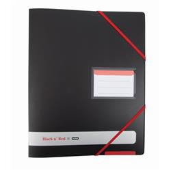 Black n Red Ring Binder Size 16mm Capacity 4 O-rings A4 Black Ref 400078863