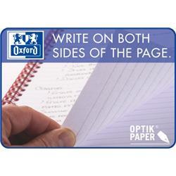 Oxford Office Notebook Wirebound Polypropylene Ruled 180pp 90gsm A5 Smart Black Ref 100103627 - Pack 5