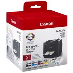 Canon PGI-2500XL (Colour - B/C/M/Y) Ink Cartridge + Security