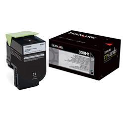 Lexmark 800H1 High Yield (4000 Pages) Toner Cartridge (Black)