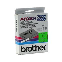 Brother P-touch TX-751 (24mm x 15m) Black On Green Labelling Tape