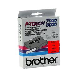 Brother P-touch TX-431 (12mm x 15m) Black On Red Labelling Tape