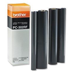 Brother PC302RF Thermal Fax Ribbon (Yield 470 Pages) Black Pack of 2