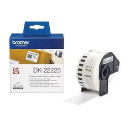 Brother DK Labels DK-22225 (38mm x 30.48m) Continuous Paper Labelling Tape (Black On White) 1 Roll