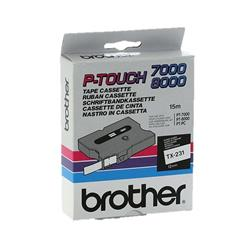 Brother P-touch TX-231 (12mm x 15m) Black On White Labelling Tape
