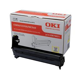 OKI 43870021 (Yield: 20,000 Pages) Yellow Imaging Drum