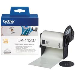 Brother P-touch DK-11207 (58mm x 58mm) CD/DVD Labels (100 Labels)