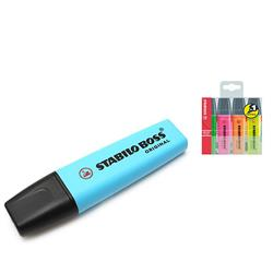 Stabilo Boss Highlighters Chisel Tip 2-5mm Line Blue Ref 70/31/10 - Pack 10 - FREE Assorted Highlighters 4 Pack