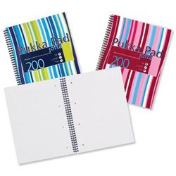 Pukka Pad Jotta Notebook Wirebound Plastic Ruled 80gsm 4 Hole 200pp A4 Assorted Ref JP018 3/4 - Pack 3 - 3 for 2