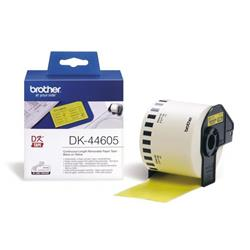 Brother P-touch DK-44605 (62mm x 30.48m) Continuous Removable Yellow Paper Tape