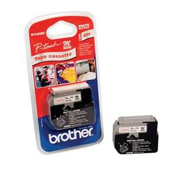 Brother P-touch M-K222BZ (9mm x 8m) Red on White Plastic Labelling Tape