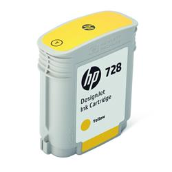 HP 728 (40ml) DesignJet Yellow Ink Cartridge for T730/T830 (36 inch) Printers
