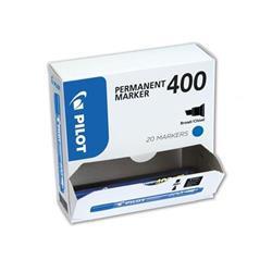 Pilot 400 Permanent Marker Chisel Tip Line 1.5-4.0mm Blue Ref 3131910504078 [Pack 15&5 Free] - 2 for 1