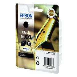 Epson Pen and Crossword 16XXL (21.6ml) DURABrite Ultra Black Ink Cartridge (Single Pack) for WorkForce WF-2660DWF Printer