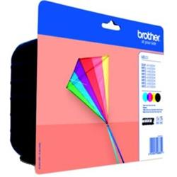 Brother LC-223VALBP (Yield: 550 Pages) Black/Cyan/Magenta/Yellow Ink Cartridge