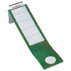 Durable Ordofix Spine Labels Self-adhesive PVC for Lever Arch File Green Ref 8090/05 - Pack 10