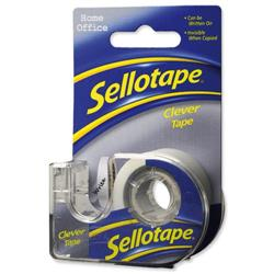 Sellotape Clever Tape Write On Copier Friendly Tearable 18mmx15m Ref 1570248 [18 Rolls]