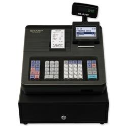Sharp Cash Register 207B 2000 PLUs 99 departments and 12 lines/sec W424xD355xH326mm Black Ref XE-A207B