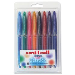 Uni-ball UM170 SigNo Gelstick Rollerball Pen 0.7mm Tip 0.4mm Line Assorted Ref 5011715 - Wallet 8