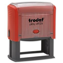 Trodat Printy 4926 Custom Stamp Self-inking Text Area 72x35mm Ref 364200