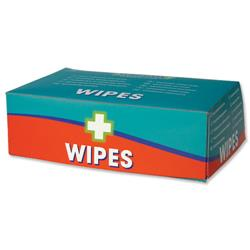 Wallace Cameron Wipes Alcohol Free for all First-Aid Kits Ref 1602014 - Pack 100
