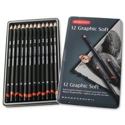 Derwent Graphic 9B to H Sketching Pencils Ref 34215 - Pack 12