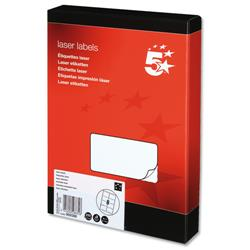 5 Star Office Multipurpose Labels Laser 8 per Sheet 99.1x67.7mm White [2000 Labels]
