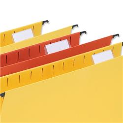 5 Star Office Tabs Plastic for Wrap-around Suspension File Clear [Pack 50]