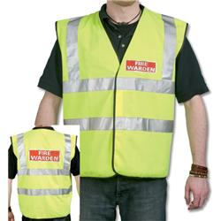 IVG Fire Identifying Vest High Visibility Yellow with Fire Warden Reflective Logo Ref IVGSFWV