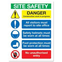 Stewart Superior Site Safety Foam Board Sign 400x300mm Ref FB070