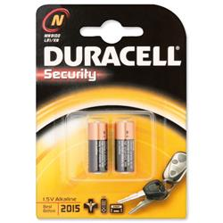 Duracell MN9100N Battery Alkaline for Camera Calculator or Pager 1.5V Ref 81223600 - Pack 2