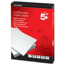 5 Star Office Copier Paper Multifunctional Ream-Wrapped 80gsm A3 White [500 Sheets]