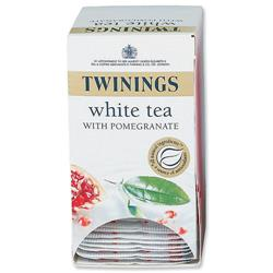 Twinings Infusion Tea Bags Individually-wrapped White Tea and Pomegranate Ref A07568 - Pack 20
