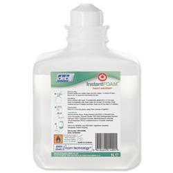DEB Instant Foam Hand Sanitiser Refill Cartridge 1 Litre Ref N03809