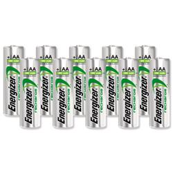 Energizer Battery Rechargeable NiMH Capacity 2000mAh HR6 1.2V AA Ref E300626800 [Pack 10]